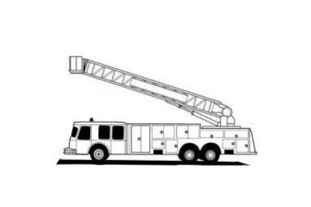 加长版消防车简笔画