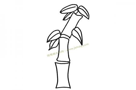 儿童简笔画大全 一组漂亮的竹子简笔画图片