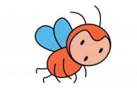 卡通小蜜蜂的画法