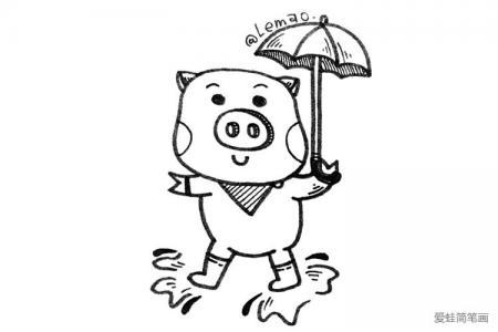 小猪手帐简笔画