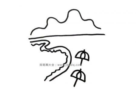 6张简单漂亮的海上风景简笔画