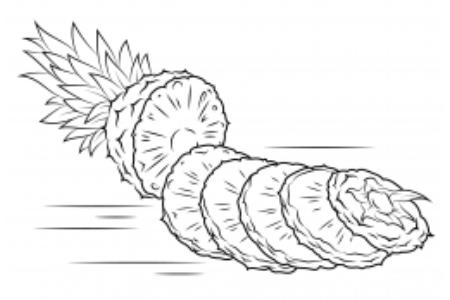 怎么画菠萝