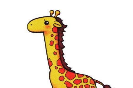 简单的动物简笔画 长颈鹿