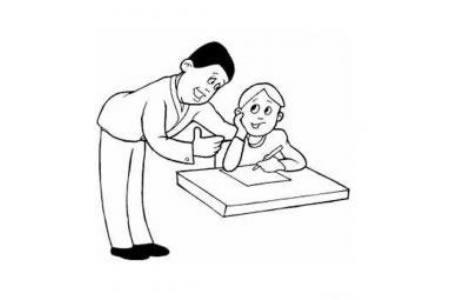 辅导学生的老师简笔画图片