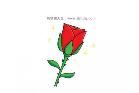 画一朵漂亮的红玫瑰