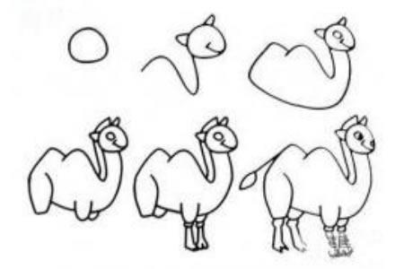 骆驼简笔画步骤
