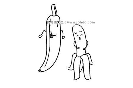 卡通形象的香蕉