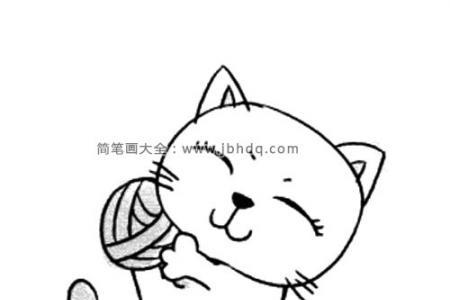 调皮的小猫简笔画