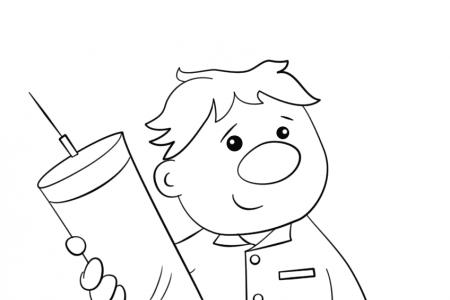 卡通医生和他的注射器