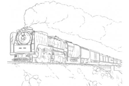火车的画法