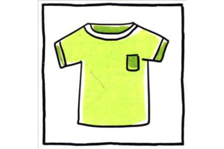 四步画出可爱简笔画 休闲随意的T恤