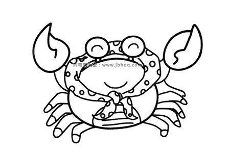 螃蟹妈妈简笔画图片