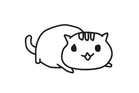 萌萌的小猫简笔画教程