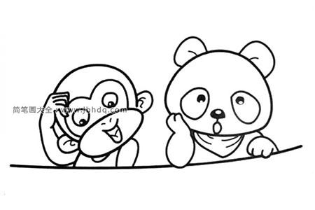 猴子和大熊猫