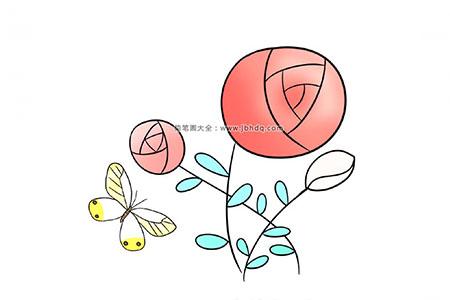 六步画出漂亮的玫瑰花