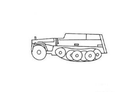 创意坦克简笔画