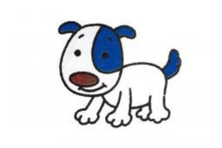 简笔画小狗的画法