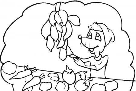 卖蔬菜简笔画图片
