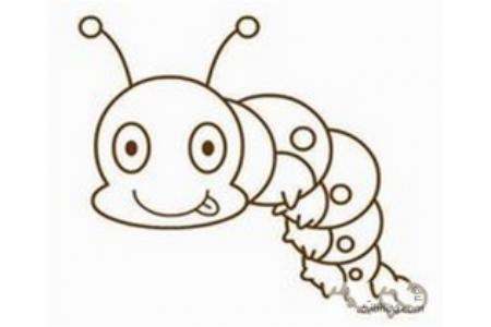 毛毛虫简笔画:毛毛虫,我的最爱简笔画