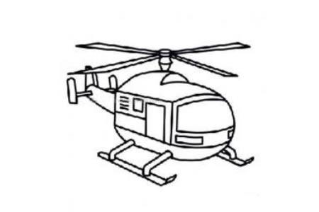 关于直升飞机的简笔画图片