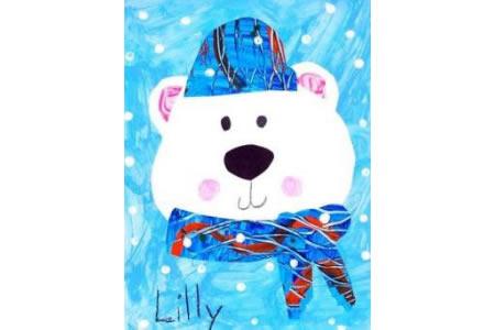 过冬的熊宝宝国外水彩画在线看