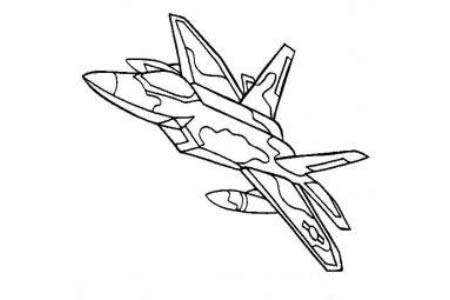 军用飞机简笔画大全 猛禽隐形飞机