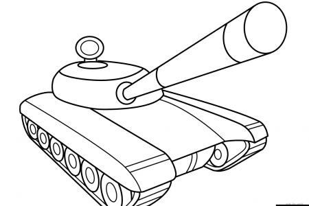 简单的坦克怎么画