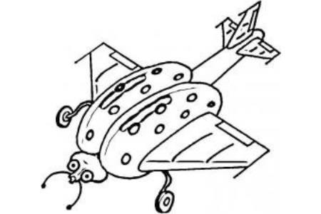 瓢虫飞机简笔画图片