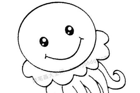 水母简笔画图片大全及画法步骤
