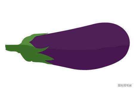 茄子简笔画带颜色