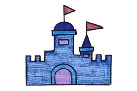初级简笔画 城堡