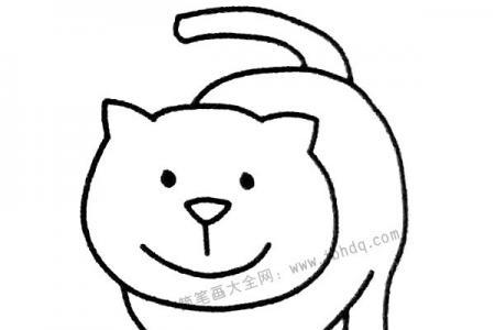 散步的猫咪简笔画图片