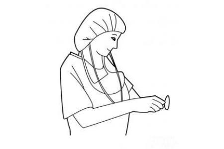 关于女护士的简笔画