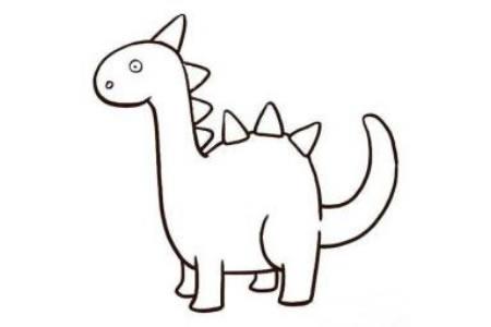 动物简笔画 关于恐龙的简笔画