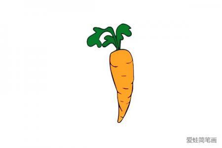 胡萝卜简笔画怎么画