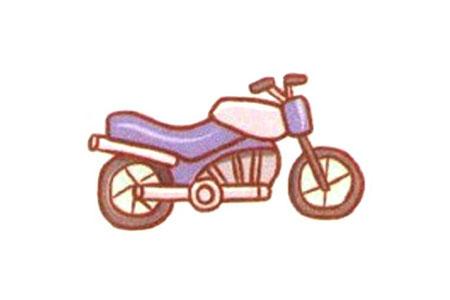 漂亮的摩托车简笔画教程