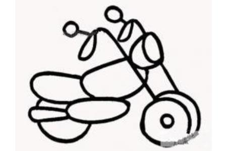 幼儿简单摩托车简笔画