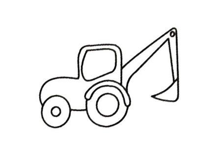 挖掘机简笔画大全及画法步骤