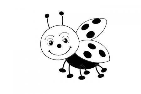 卡通小瓢虫填色图片