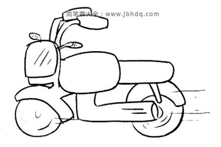 Q版交通工具 摩托车