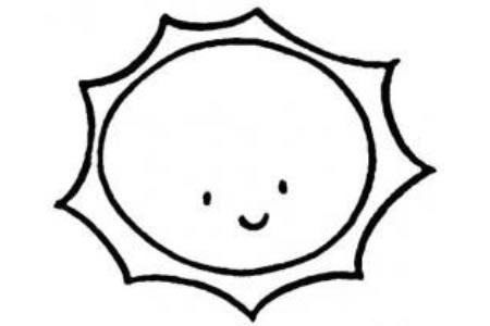 幼儿太阳简笔画画法