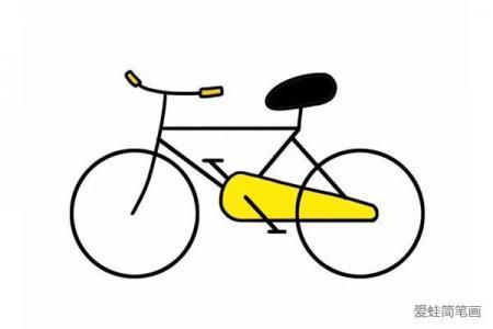交通工具之自行车简笔画