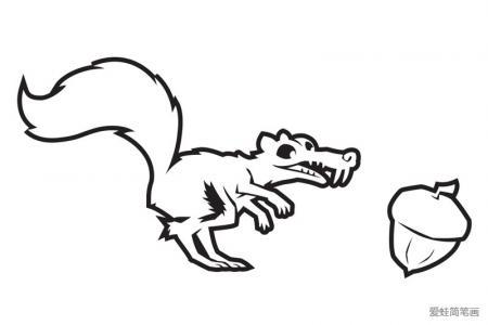 冰河世纪中的小松鼠
