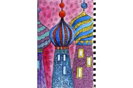 快乐小屋国外小学生城堡画图片分享