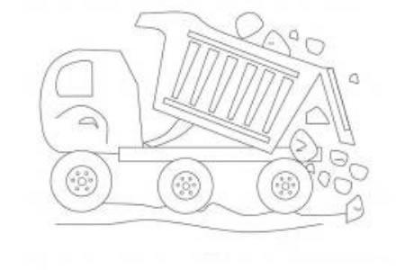 幼儿园翻斗车的画法