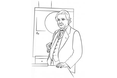 爱因斯坦的简笔画画像