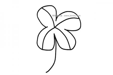 六张漂亮的四叶草简笔画图片