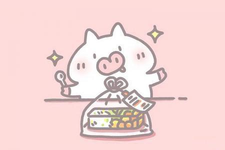 一组可爱猪猪简笔画