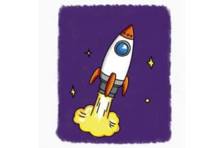 简笔画教程 火箭简笔画步骤图