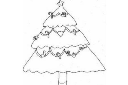 幼儿圣诞节简笔画素材圣诞树
